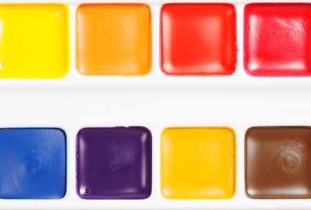 Box of dry aquarelle paints Stock Photo - 9284830