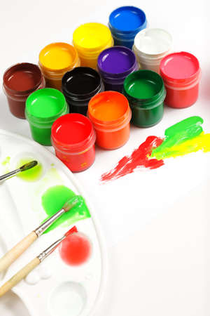 Palette and gouache Stock Photo - 9284843