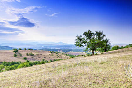 View at Caucasus foothills in Kasumkent village area Stock Photo - 15560687