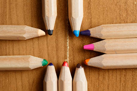 Pencils in cross formation closeup photo Stock Photo - 20735640