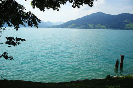 Summer austrian lake Attersee