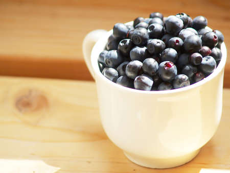 cup full of blueberries