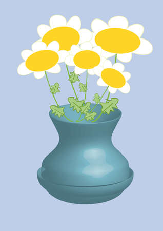 ox eye daisy: ox-eye daisy in vase