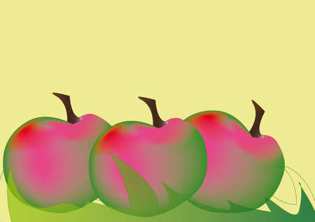 abstract fruits, plums or apples Illustration