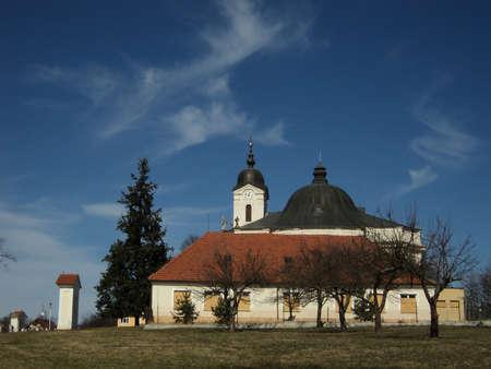 Baroque church on a hill