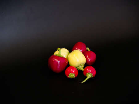 small round colorful peppers