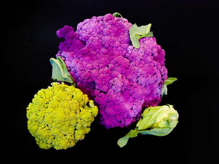 colorful mix of cauliflowers Stock Photo