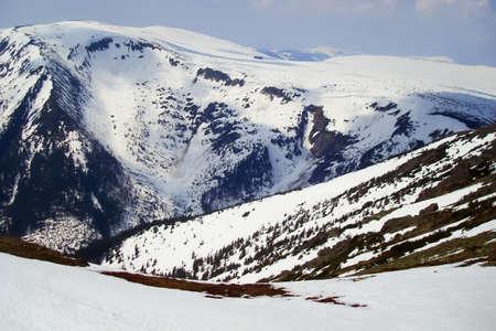 krkonose: winter czech highest mountains Krkonose