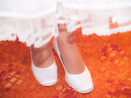 Bride�s boots Stock Photo