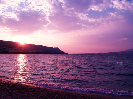 Pink and violet sunset