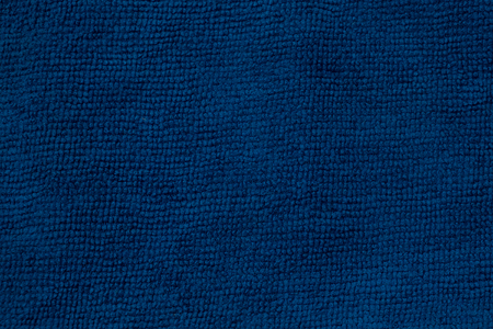 synthetic fiber: Closeup blue microfiber cloth and blue microfiber texture of microfiber towel for design with copy space for text or image.