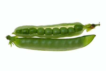 pea pod: fresh green peas isolated on a white background
