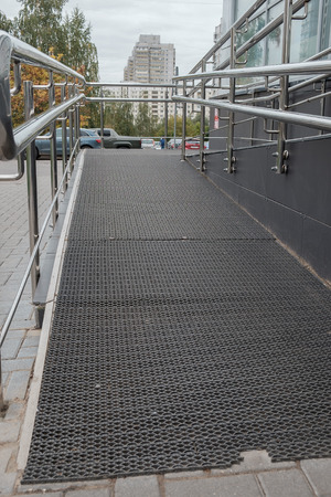 ramp: Ramp way for support wheelchair disabled people. Stock Photo
