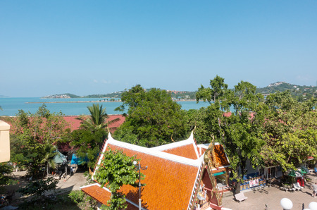 View of the Gulf of Siam from Wat Phra Yai, known in English as the Big Buddha Temple.