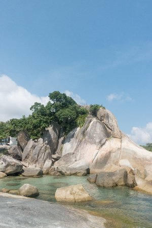 View of the sea nearly Hin Yai Hin Ta on Koh Samui, Thailand