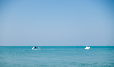 two boats in the beautiful tropical ocean