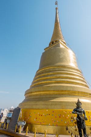 BANGKOK, THAILAND - December 21 2017: Golden Mount and Wat Saket. You can see all Bangkok from Golden Mount. Located in Ratchadamnoen Avenue Editorial