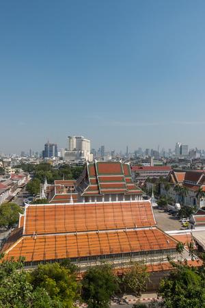 View of Bangkok from the Golden Mount at Wat Saket.