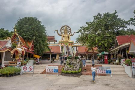 KOH SAMUI, THAILAND - December 19, 2017: Wat Phra Yai. Wat Phra Yai, known in English as the Big Buddha Temple, is a Buddhist temple on Ko Phan. Editorial