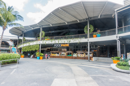 KOH SAMUI, THAILAND - December 15, 2017: FoodPark in CentralFestival Koh Samui. Central Festival Samui is a shopping mall in a resort style, located in the centre of Ko Samui.