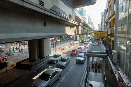 BANGKOK, THAILAND - December 24: Road traffic on Sukhumvit Bangkok