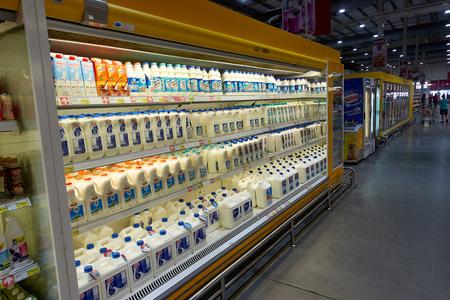 KOH SAMUI, THAILAND - December 15, 2017: Macro Food Service. Diffrent type of milk. Samui thailand Editorial