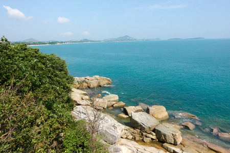 Lad Koh Viewpoint. Look out ocean side. Koh Samui, Thailand Stock Photo