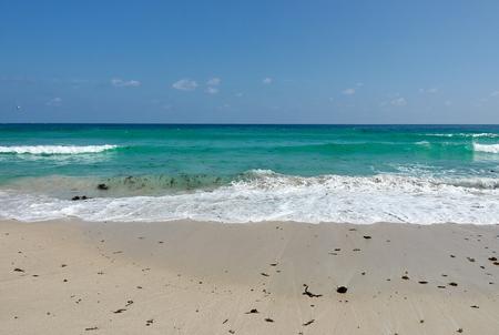 Sea waves and sand beach of Chaweng beach, Koh Samui Thailand