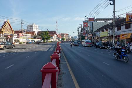HUA HIN, THAILAND - December 8, 2017: Road traffic in Hua Hin Thailand Editorial