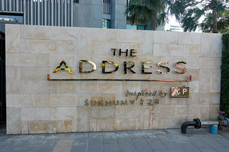 BANGKOK, THAILAND - December 7: The Address. The Address Asoke is a luxury condominum located conveniently between Petchaburi MRT and Airport link stations