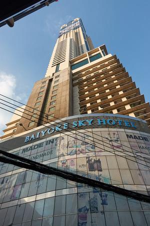 BANGKOK, THAILAND - December 6, 2017: Baiyoke Sky Hotel. Baiyoke Tower II is an 88-storey, 309 skyscraper hotel at 222 Ratchaprarop Road in the Ratchathewi District of Bangkok, Thailand
