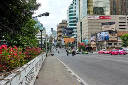 BANGKOK, THAILAND - December 5: Traffic at Asoke intersection during morning, Bangkok