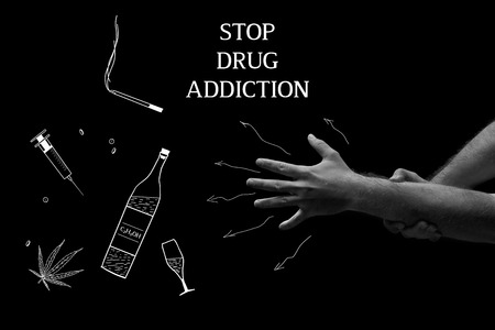 Treatment of drug dependence. Stop drud addiction. Stock Photo