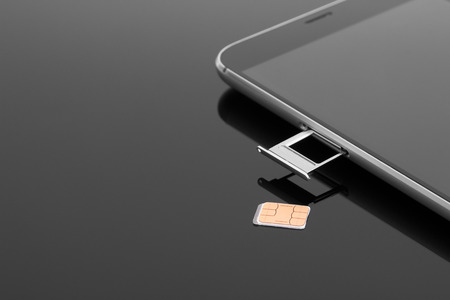 Change the SIM card on your smartphone Stock Photo