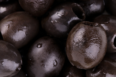 A lot of fresh olives without pits Banque d'images
