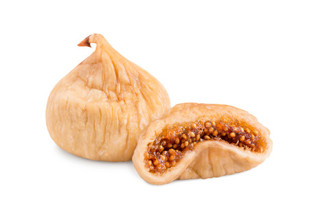 Dried figs isolate on a white background.