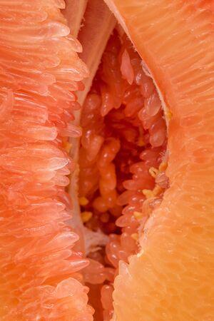 Opened pulp of red orange. Stok Fotoğraf