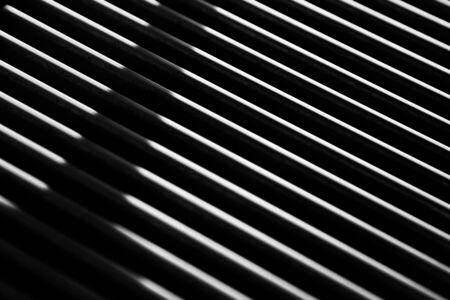 Metal construction forming straight lines. Industrial design. Stok Fotoğraf