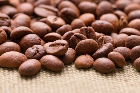 Scattered coffee beans. Stok Fotoğraf