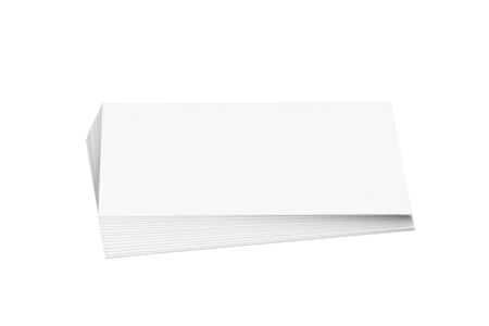 Business cards isolate on white background.White paper cards.