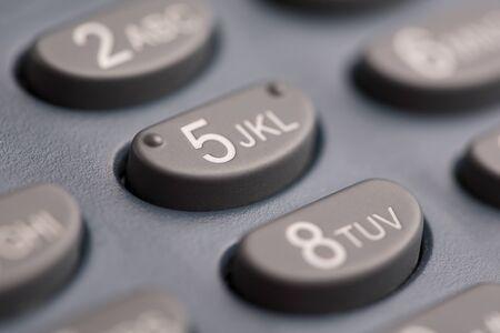 Keyboard payment terminal close-up. Stok Fotoğraf - 128346225
