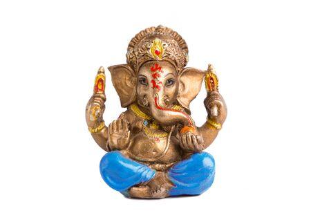 Ganesha god isolate on white background.