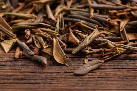 Sagan daila tea leaves close up. Shaman tea sagan daila. Archivio Fotografico - 158155401