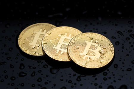 Bitcoin coin finance concept. Crypto currency business. Archivio Fotografico - 159416798