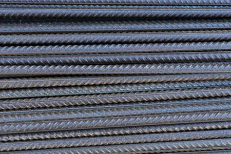 Reinforcement for construction. Metal construction fittings background.