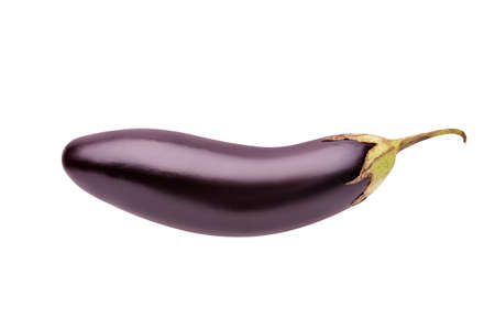 Eggplant isolate on a white background.