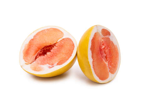 Fruit pomelo isolate on a white background. Archivio Fotografico