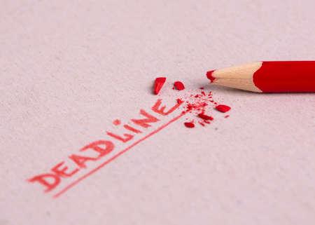 Deadline lettering. Deadline word.