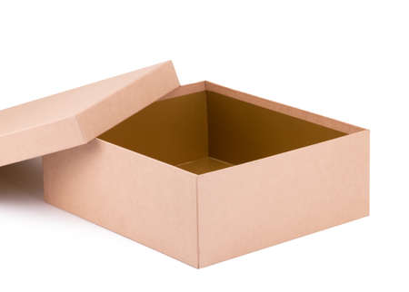 Paper shoe box on a white background.