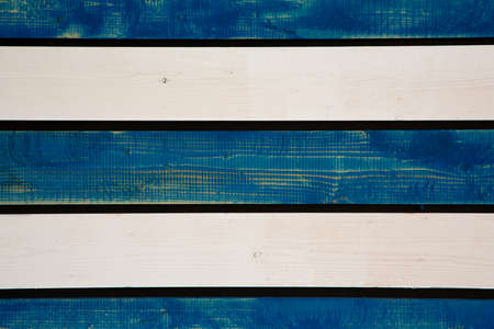 Background from white-blue boards. Vintage wood background.